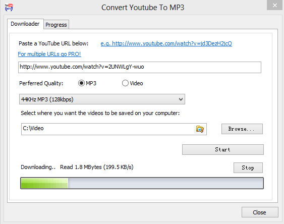 convert youtube to mp3 screenshot